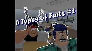 5 Types of Farts #2 | Roblox Animation