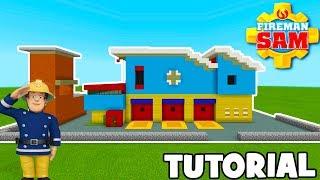 "Minecraft Tutorial: How To Make Fireman Sams Firehouse ""Fireman Sam"""