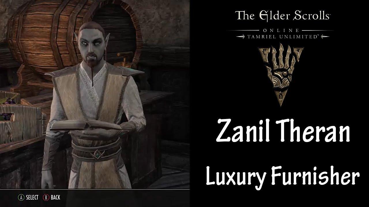ESO - Guide    Zanil Theran / Luxury Furnisher    July 8, 2017