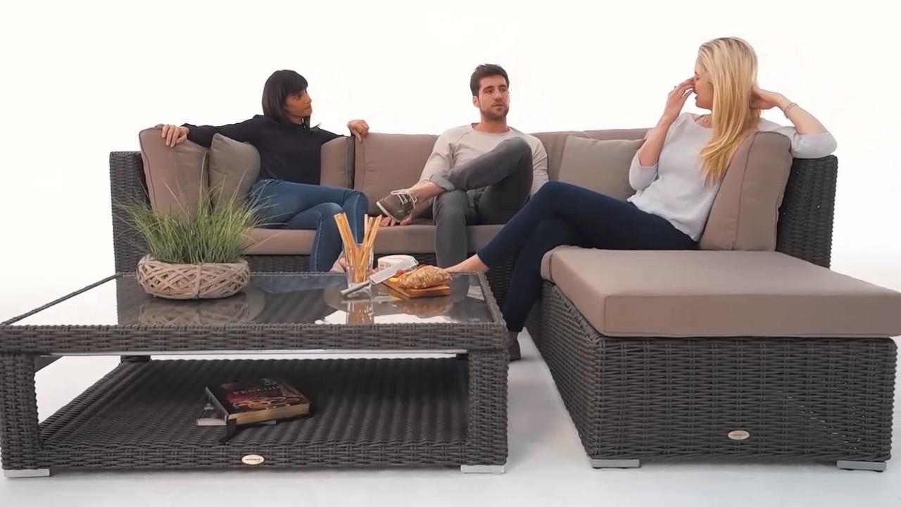 Rattan lounge braun  stella rattan lounge braun lia tisch unten - YouTube