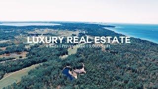 Beautiful Private Lake Property | Charlevoix, Michigan Luxury Real Estate (4K)
