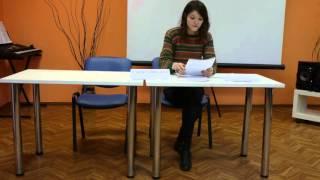 Елизавета Неклесса, выступление в библиотеке В.Г. Белинского