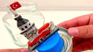 Evde Basit Kar Küresi Nasıl Yapılır - DIY Snow Globe Decoration