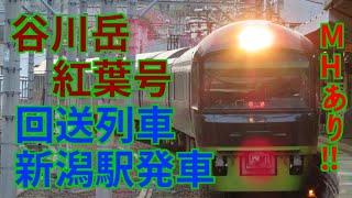 谷川岳紅葉号回送 新潟駅発車 485系リゾートやまどり