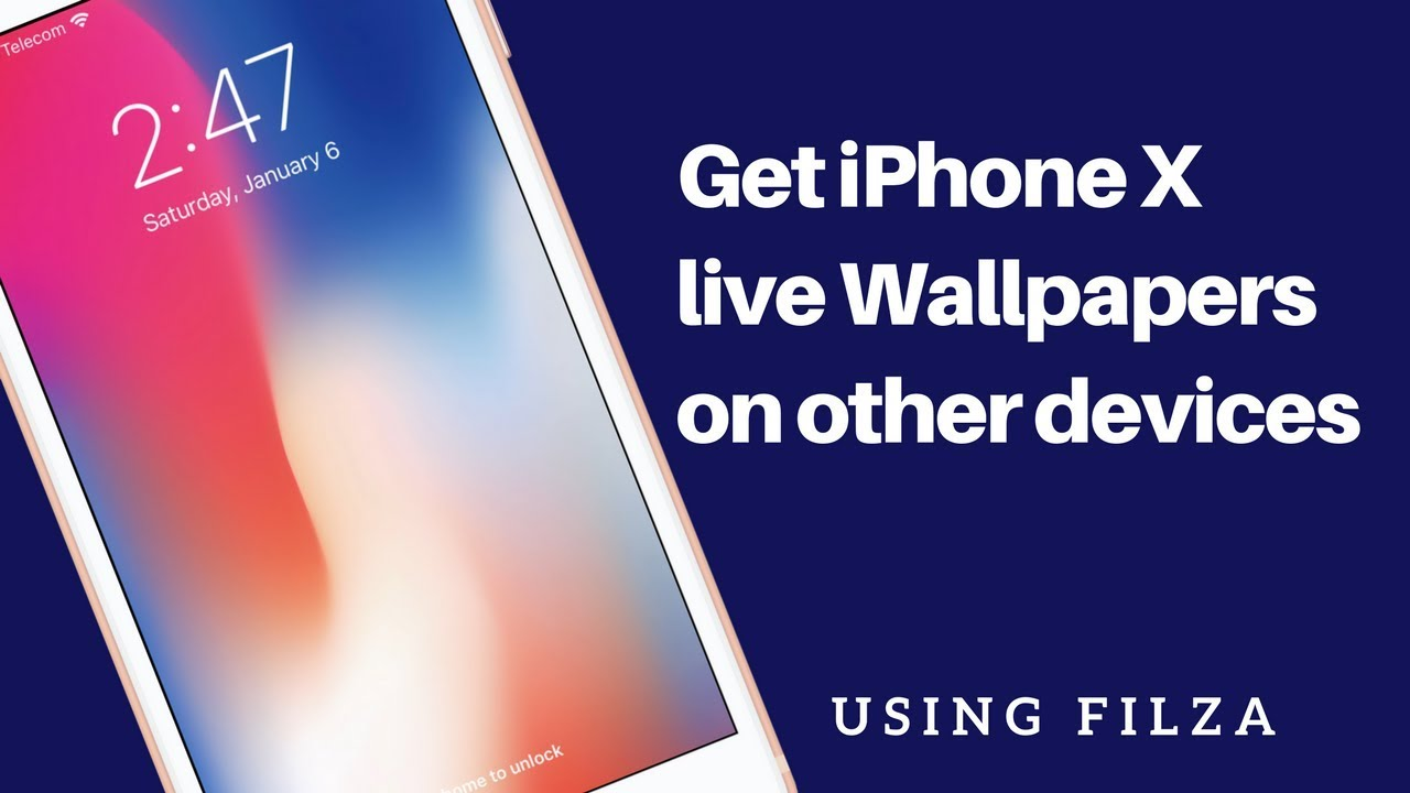 Get Iphone X Live Wallpaper On Other Iphones Using Filza Youtube