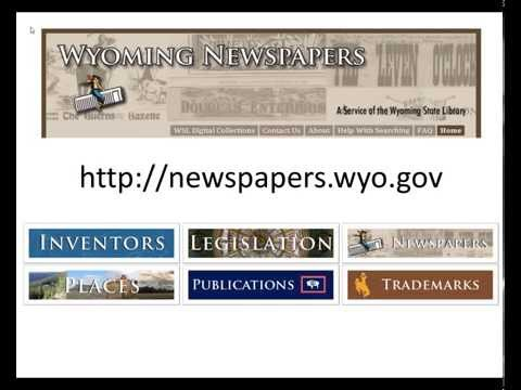 Wyoming Newspapers: PDF Help