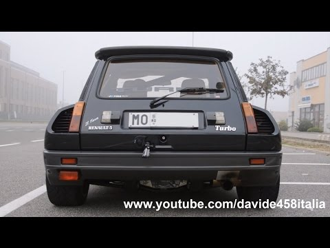 ACTION! Renault 5 Maxi Turbo: launch, flames & sound