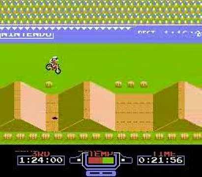 excite bike (NES) time attack