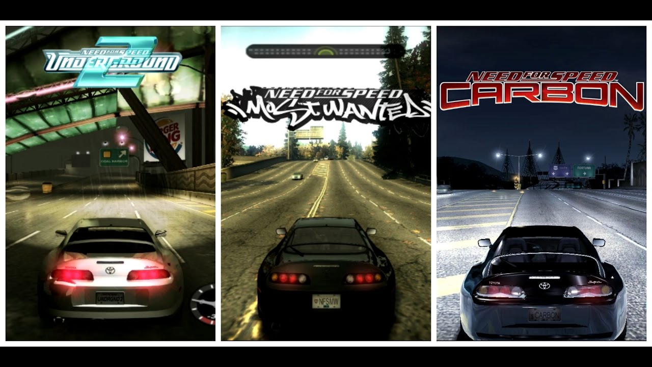 Graphics and Sound comparison: NFS Underground 2 vs Most Wanted vs Carbon