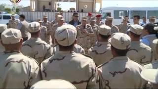 الفريق محمود حجازى يتفقد إحدى المنشآت التأهيلية والتدريبية بالقوات المسلحة