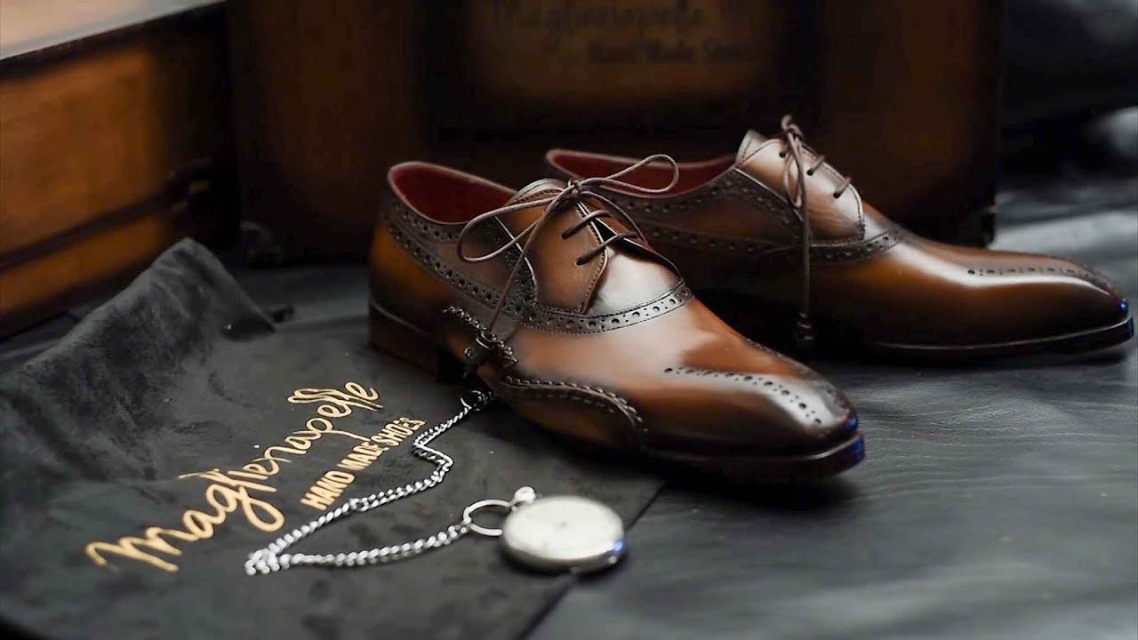 Handcrafting Premium Men S Shoes Maglieriapelle Youtube