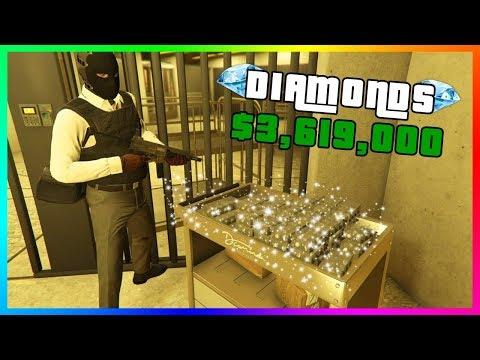 GTA 5 Online Casino Heist - RARE Diamond Vault Loot $3,619,000 MAX Payout On HARD! (Silent & Sneaky)