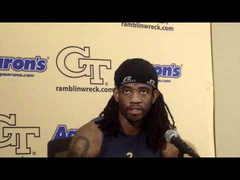 GT Football - Mario Butler - Duke Post Game