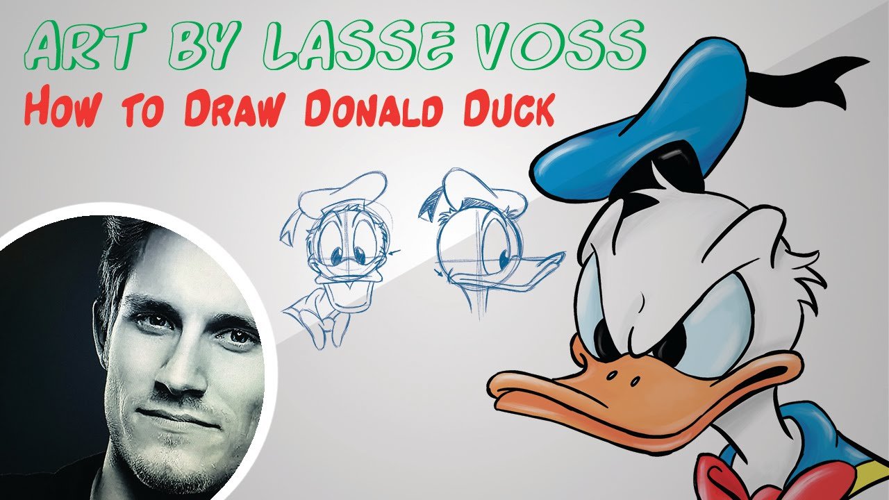 How To Draw Donald Duck The Real Way Made Easy Youtube