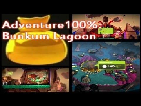 Little Big Planet 3 100% Prize Bubbles - Adventure 14 Bunkum Lagoon