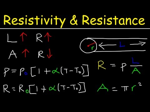 Resistivity and Resistance Formula, Conductivity, Temperature Coefficient, Physics Problems