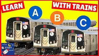 Trains For Kids Learn The Alphabet For Toddlers With Trains NYC Subway MTA Trains ABC Train
