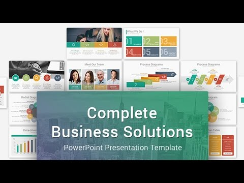 complete business solutions multipurpose powerpoint presentation, Presentation templates