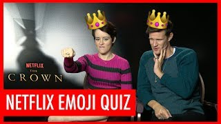 Claire Foy, Matt Smith + more struggle through our Netflix Emoji Quiz