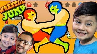 Wrestle Jump Gameplay   Luchas Locas con Papa   Juegos para niños