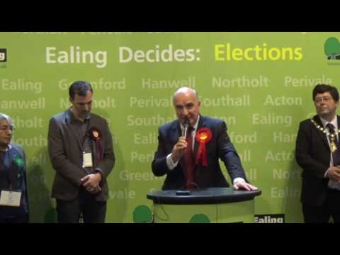 Ealing North - General Election Declaration