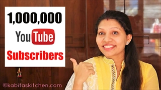 1,000,000 Subscribers | One Million Subscribers | Thank you message to Viewers | kabitaskitchen
