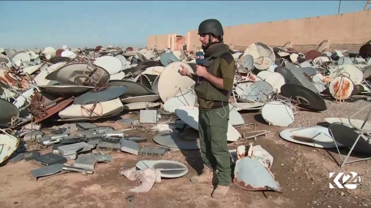Camouflage Dishes Kurdistan24 Discovers Thousands Of Destroyed Satellite Dishes