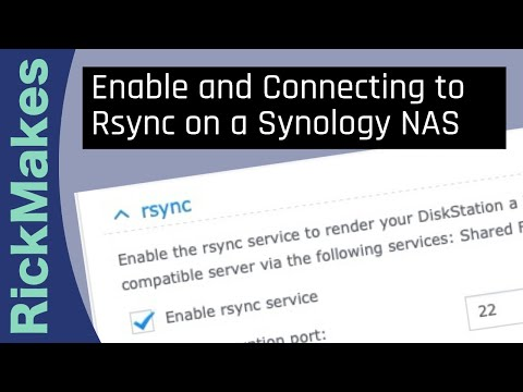 Enable and Connecting to Rsync on a Synology NAS - YouTube