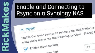 enable and Connecting to Rsync on a Synology NAS