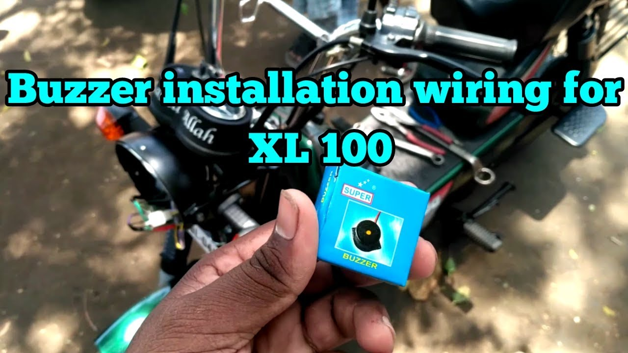 Tvs Xl 100 Buzzer Installation In Tamil Rockfort Motor Works Youtube Wiring Diagram For Indicators