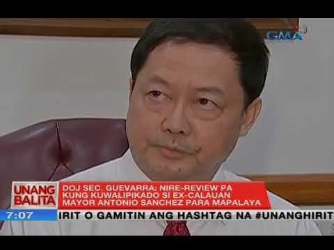 UB: Sec. Guevarra: Nire-review pa kung kuwalipikado si ex-Calauan mayor Sanchez para mapalaya