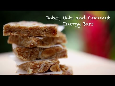 How To Make Healthy Date & Oats Energy Bar || 2 Minute Snacks