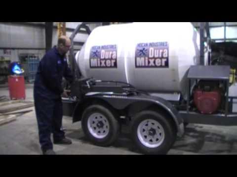 How to Mix Concrete Faster: DuraMixer Portable Cement Mixer