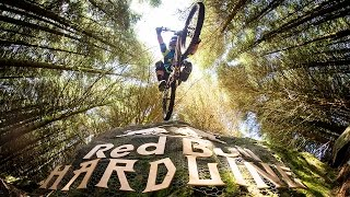 Extreme Downhill Mountain Bike Racing | Red Bull Hardline 2016(Watch Rampage 2016 LIVE HERE Oct 14: http://win.gs/Rampage2016YT The bravest and best downhill mountain bikers descended upon Dan Atherton's ..., 2016-10-09T14:00:02.000Z)