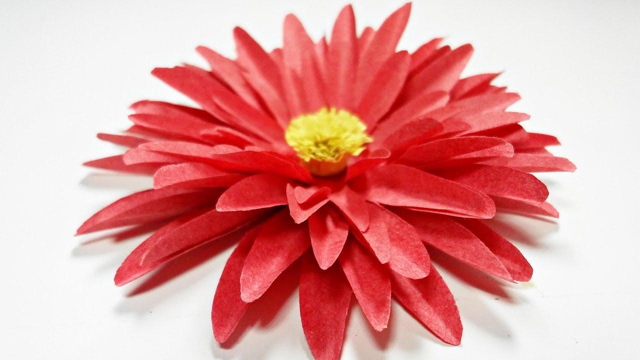 dahlia paper flower diy making tutorial  paper flowers easy for children  for kids for beginners