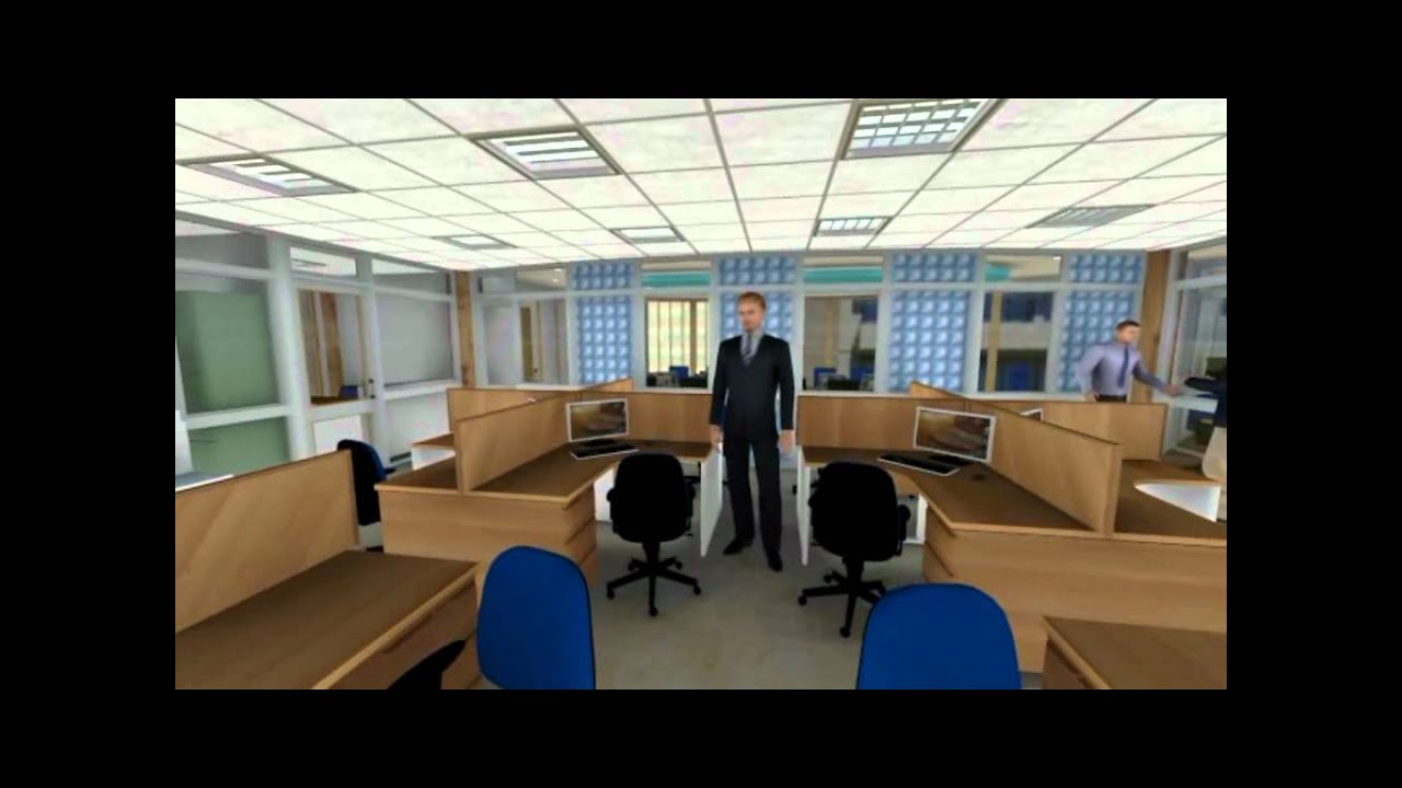 Simple office layout youtube for Simple office design