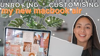 UNBOXING + CUSTOMISING MY NEW MACBOOK 2020