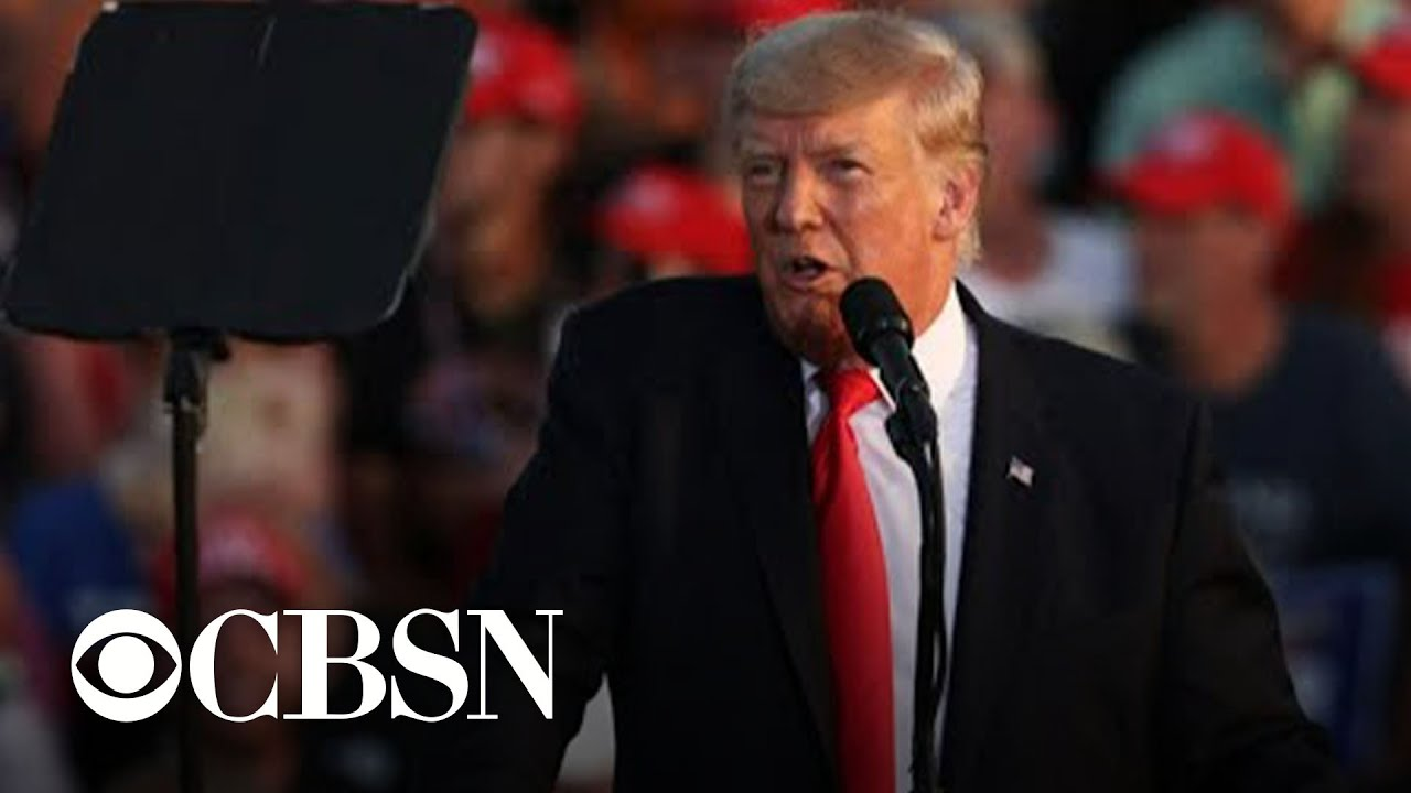 Former President Trump holds first rally since leaving office