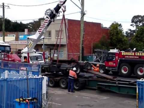 crane work: mini crane in action