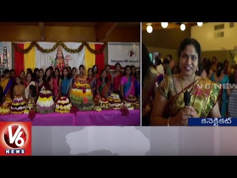 Bathukamma Festival Celebrations In Connecticut | Telangana NRI Association | V6 USA NRI News