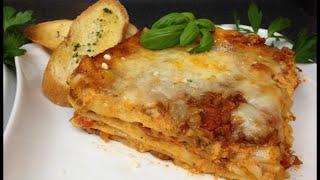 Lasagna De Carne  Deliciosa Receta