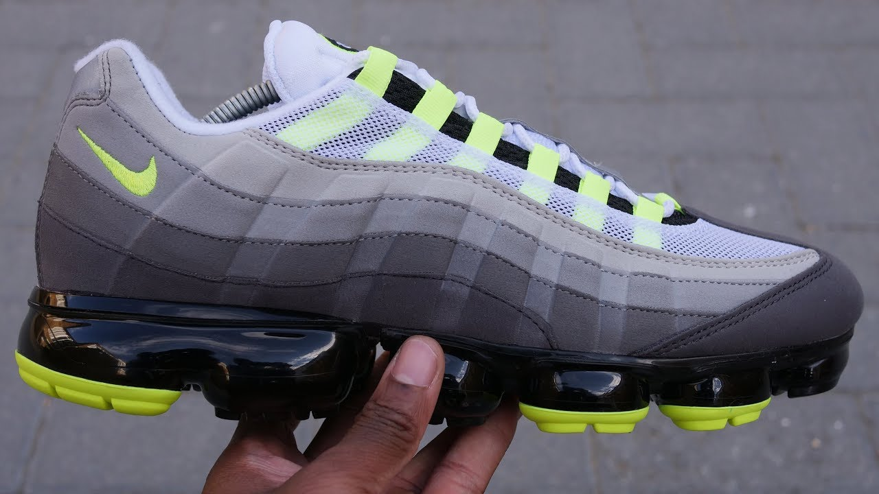 new style 432fd ed11a Air Vapormax 95 OG 'Neon' Quick Look & On Feet