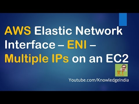 AWS Elastic Netwok Interface - ENI - Mutiple IPs on an EC2 (demo)
