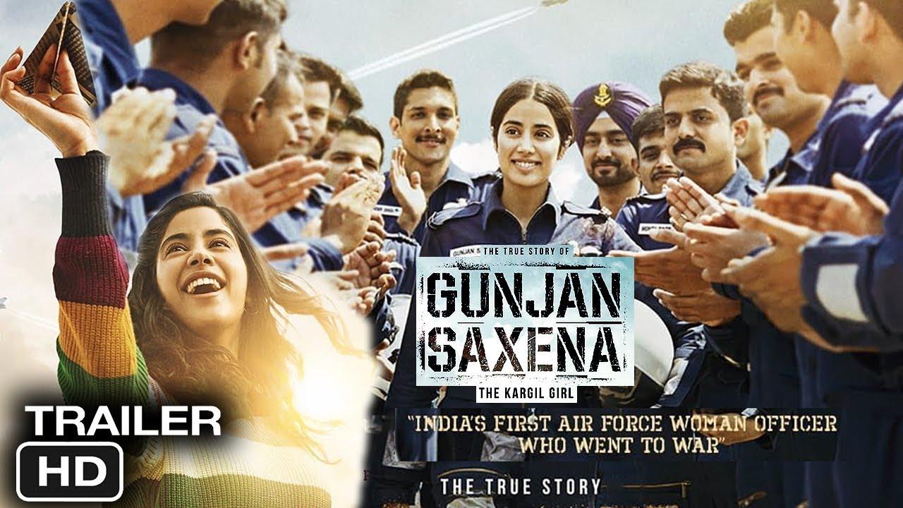 Gunjan Saxena The Kargil Girl Movie Trailer Review Gunjan Saxena Jhanvi Kapoor Youtube