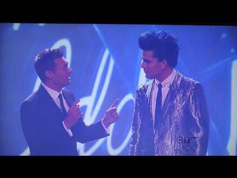 Adam Lambert performs Whataya Want From Me on American Idol