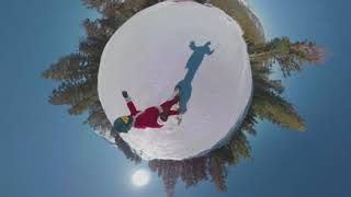 Santa Goes Snowboarding on Christmas in Mammoth