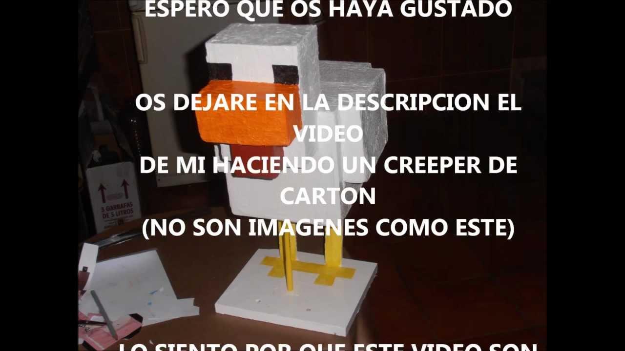 Pato  Gallina  Pollo del Minecraft de Carton Tamao Real  YouTube