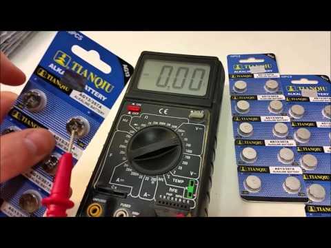 TIANQIU AG13 LR44 357A 1.5V Alkaline Battery Review