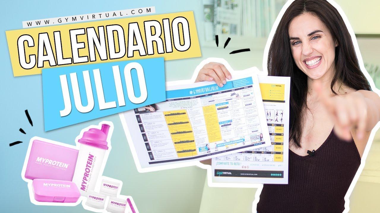 Calendario Septiembre Gymvirtual.Presentacion Calendario Gratis De Julio Reto Cardio Hiit Premiados Mes De Junio Gymvirtual