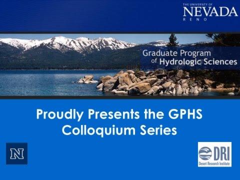 Dr. Mark Engle, USGS and Univ of TX El Paso: Presentation at Univ of NV Reno 3/04/16